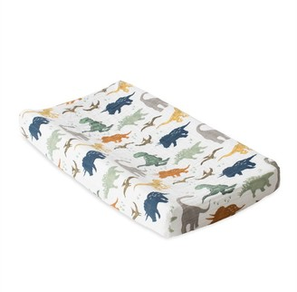 Little Unicorn Changing Pad Cover 100% Cotton Muslin Dino Friends