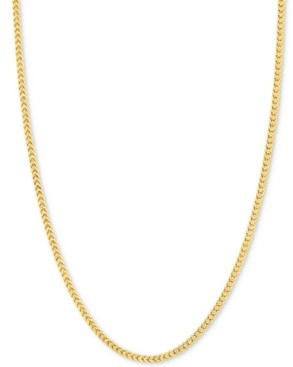 """Italian Gold 24"""" Franco Chain Necklace (1-7/8mm) in 14k Gold"""