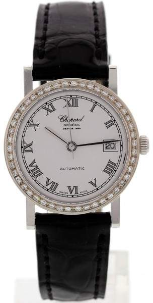 Chopard 4141 Depuis 1860 18K White Gold & Diamond Womens Watch