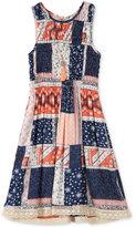 Speechless Patchwork Dress, Big Girls (7-16)