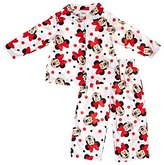 AME Sleepwear Disney Minnie Mouse Button Front Little Girls Pajama Set , Toddlers