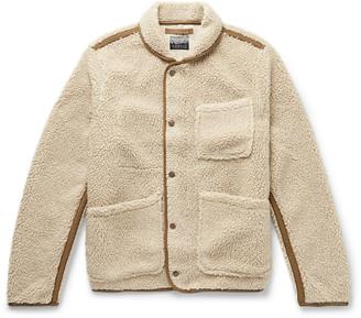 J.Crew Nordic Shawl-Collar Grosgrain-Trimmed Fleece Jacket