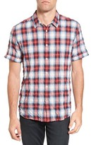 John Varvatos Men's Mayfield Slim Fit Plaid Sport Shirt