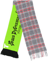 Gosha Rubchinskiy plaid and logo scarf