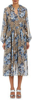 Robert Rodriguez Women's Ruffle-Trimmed Silk Chiffon Dress
