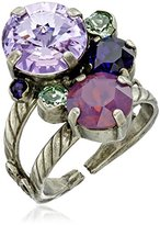 """Sorrelli African Violet"""" Crystal Assorted Rounds Ring, Size 7-9"""
