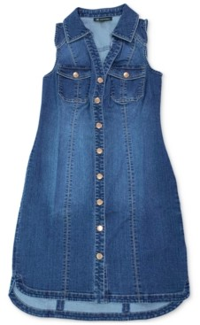 INC International Concepts Inc Sleeveless Denim Shirtdress, Created for Macy's
