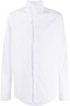 Alyx High Collar Curved Hem Shirt
