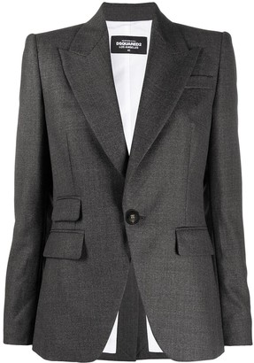 DSQUARED2 Single-Breasted Wool Blazer