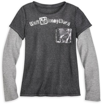 Disney Walt World Sequin Layered T-Shirt for Women
