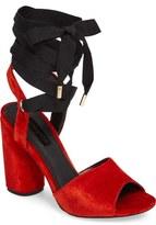 Topshop Royal Glitter Lace-Up Sandals (Women)