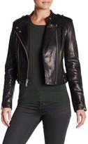 Andrew Marc Genuine Leather Gia Moto Jacket