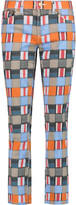 Tory Burch Printed cotton-blend straight-leg pants