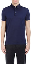 Lanvin Men's Piqué Polo Shirt-BLUE, BLACK, NAVY