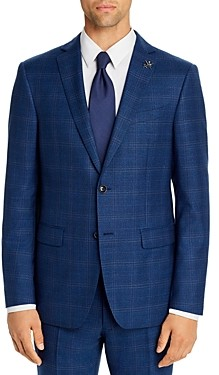 John Varvatos Bleecker Tonal Plaid Slim Fit Suit Jacket
