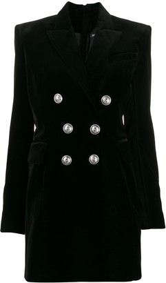 Balmain Structured Shoulders Blazer Dress