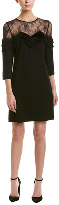The Kooples Lace Yoke Shift Dress