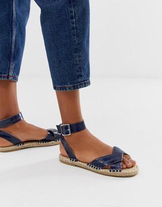 Asos Design DESIGN Jiana espadrille sandals in croc