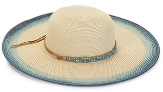 MARCUS ADLER Natural Blues Straw Hat