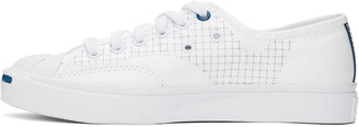 Converse White Tyvek Jack Purcell Rally Low Sneakers