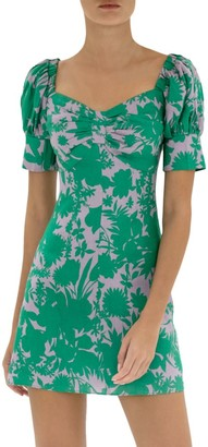 Alexis Pilou Floral Linen Mini Dress