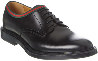 Gucci Lace-Up Leather Loafer
