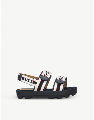 Gucci Sam logo-print canvas sandals 5-9 years