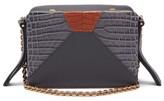 Lutz Morris - Malloy Tri-colour Leather Cross-body Bag - Womens - Navy Multi