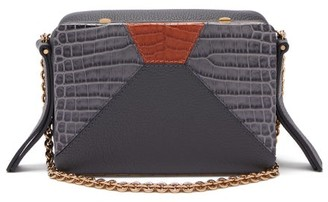Lutz Morris - Malloy Tri-colour Leather Cross-body Bag - Womens - Navy Multi
