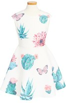 Hannah Banana Girl's Succulents Skater Dress