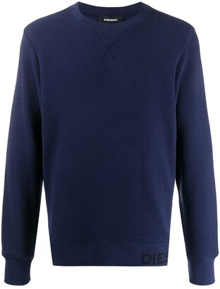 Diesel Waffle-Knit Sweatshirt