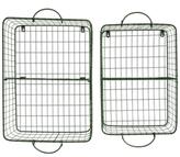 3R Studio Metal Wire Storage Baskets, Set of 2