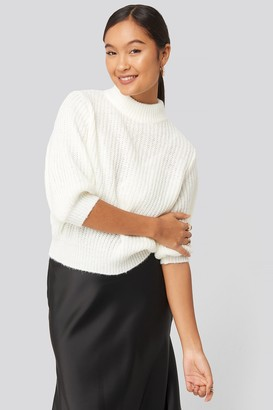 NA-KD Statement By Felicia Wedin Mid Sleeve Knitted Sweater White