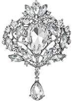 Bai You Mei Women's Austrian Crystal Elegant Leaf Teardrop Pendant Brooch