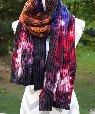 Zen Yarn Garden Women's Accent Scarves - Country Living Hand-Dyed Double-Ribbed Scarf