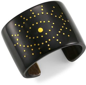 Nest Black Horn Evil-Eye Cuff Bracelet