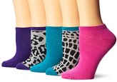 Steve Madden Women's Animal Print Low Cut No Show Sock 10-Pack