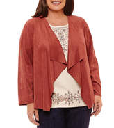 Alfred Dunner Gypsy Moon Cascade Faux Suede Jacket-Plus