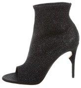 Jerome C. Rousseau Glitter Peep-Toe Ankle Boots w/ Tags
