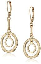 """Anne Klein Out of Orbit"""" Gold-Tone Leverback Orbital Drop Earrings"""