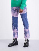 Gucci Bleached cotton corduroy trousers