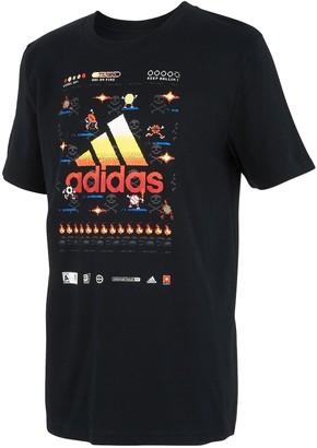 adidas Boys 8-20 8-Bit Game Time Tee