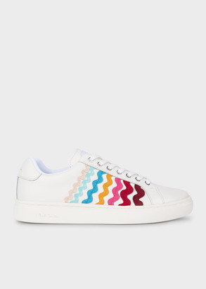 Paul Smith Women's White 'Ribbon' Leather 'Lapin' Trainers