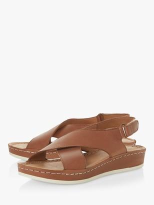 Bertie Lauder Leather Cross Over Strap Sandals