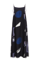 ADAM by Adam Lippes Printed Crepe Trapeze Dress With Shoulder Ties
