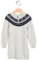 Armani Junior Girls' Patterned Sweater Dress