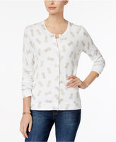 Charter Club Pineapple-Print Cardigan, Only at Macy's