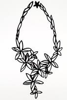 Batucada Black Flower Necklace
