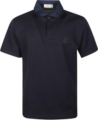 Lanvin Embroidered Logo Polo Shirt