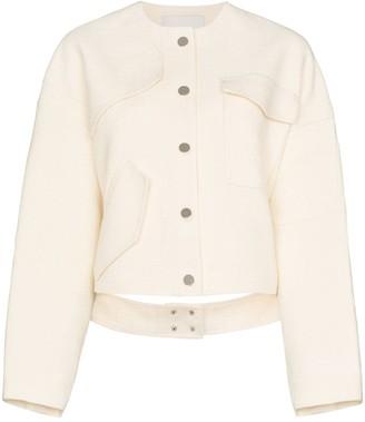 Tibi Single-Breasted Patch Pocket Jacket